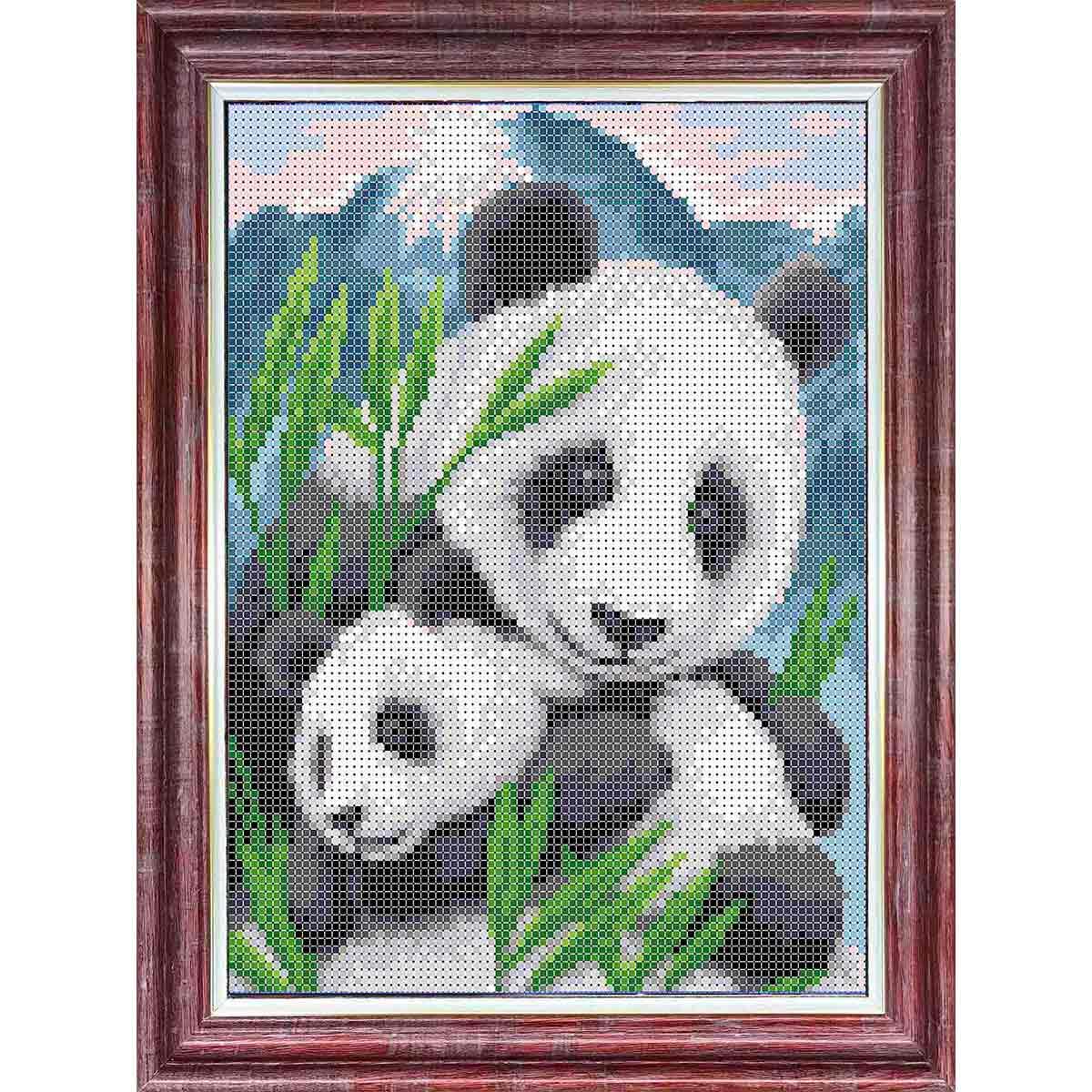 КБЖ-4035 Канва с рисунком для бисера 'Мамы и их зверята. Панды' А3