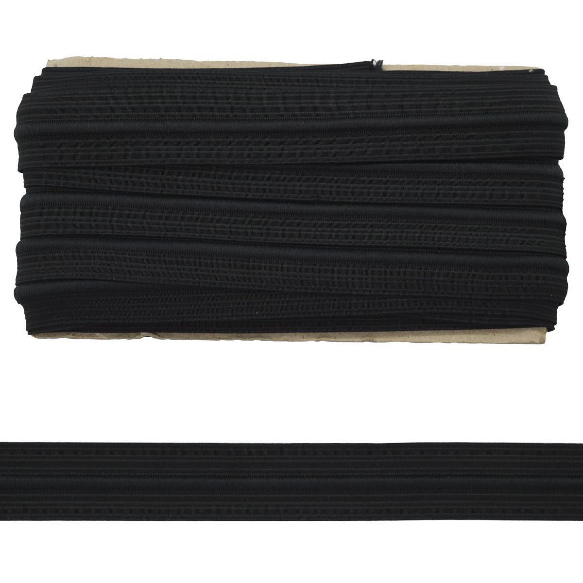 90576Ч Лента эластичная со шнуром 3,5см