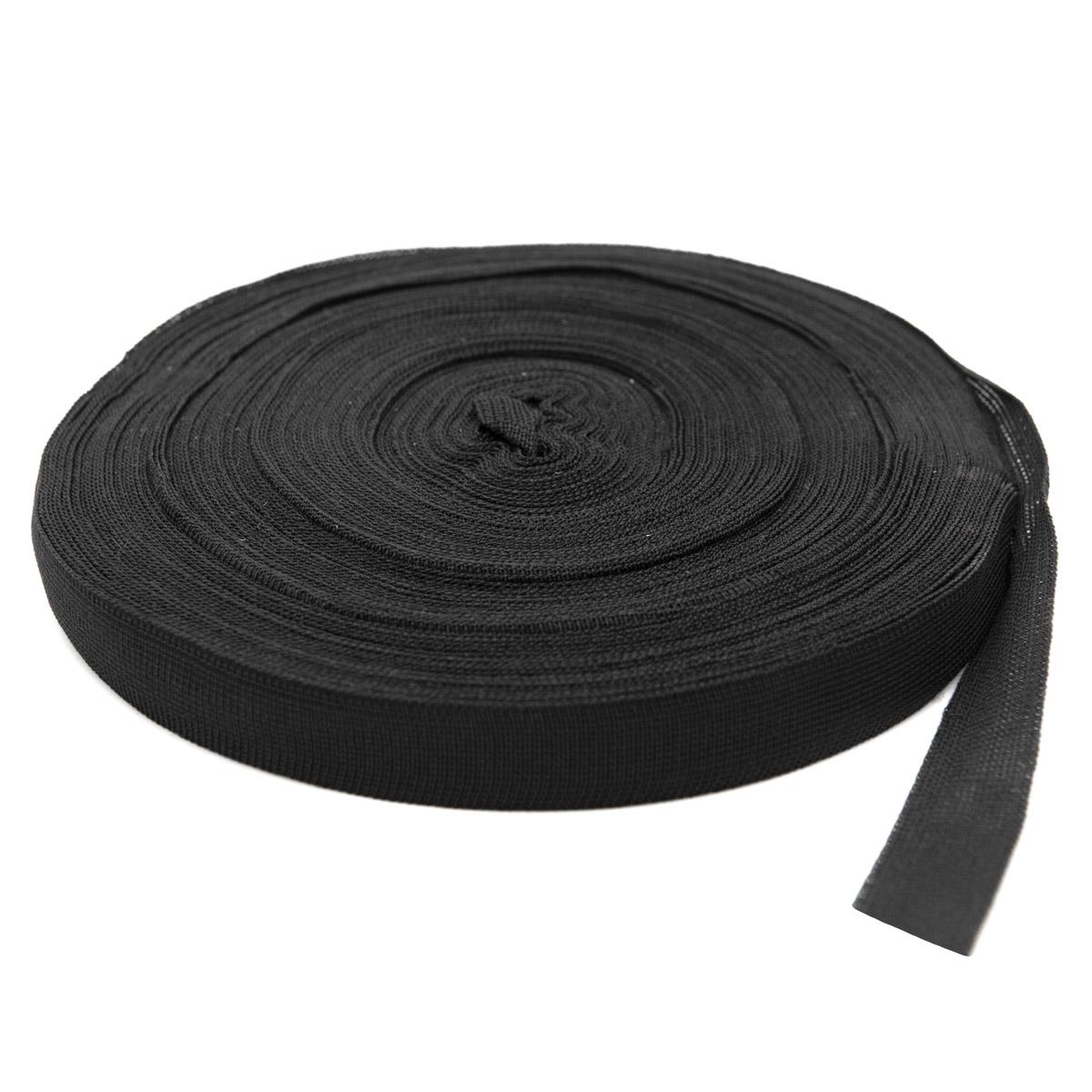 60351 Тесьма окантовочная 24мм*30м черный (3,55гр/м)
