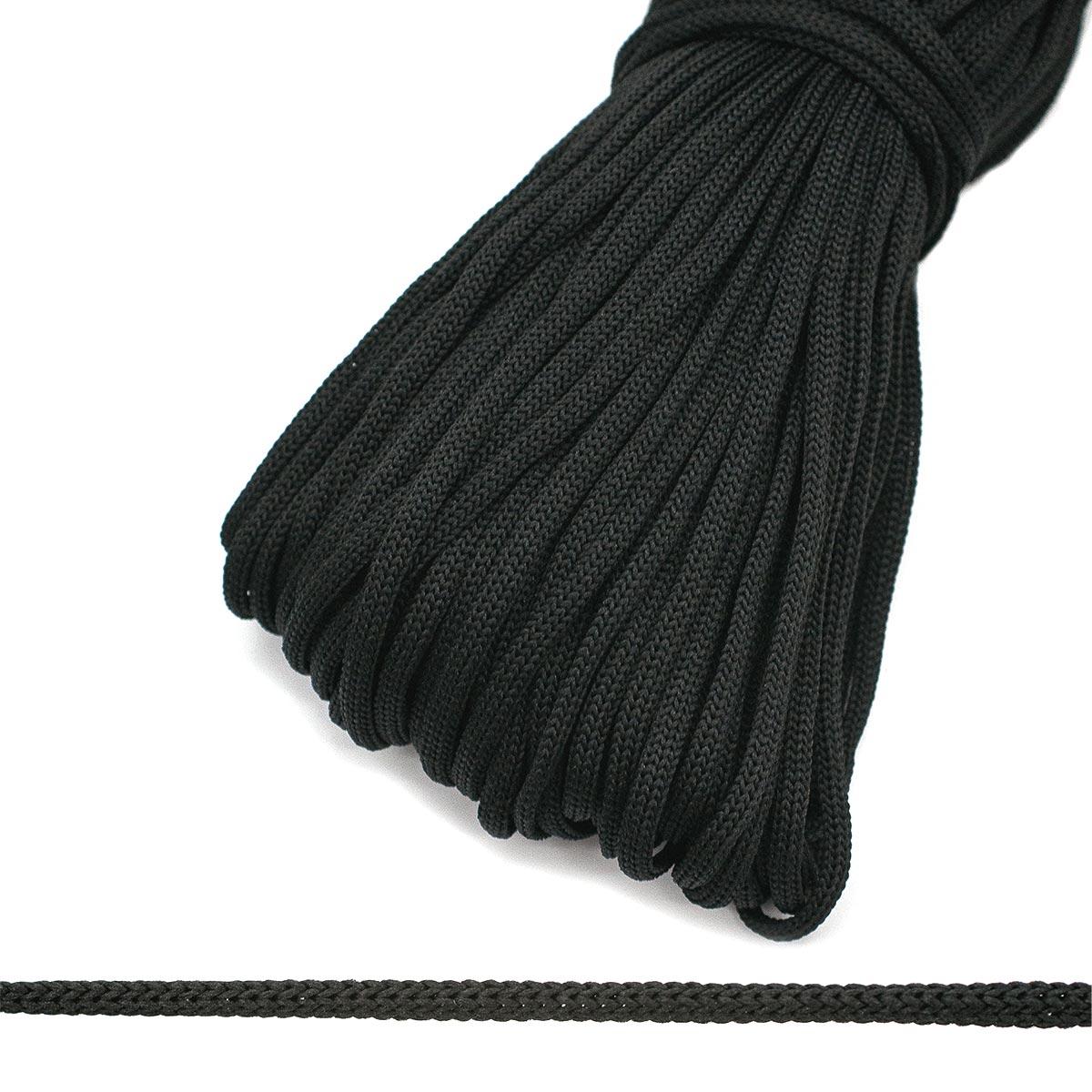 60374 Шнур обувной 4мм*200м черный