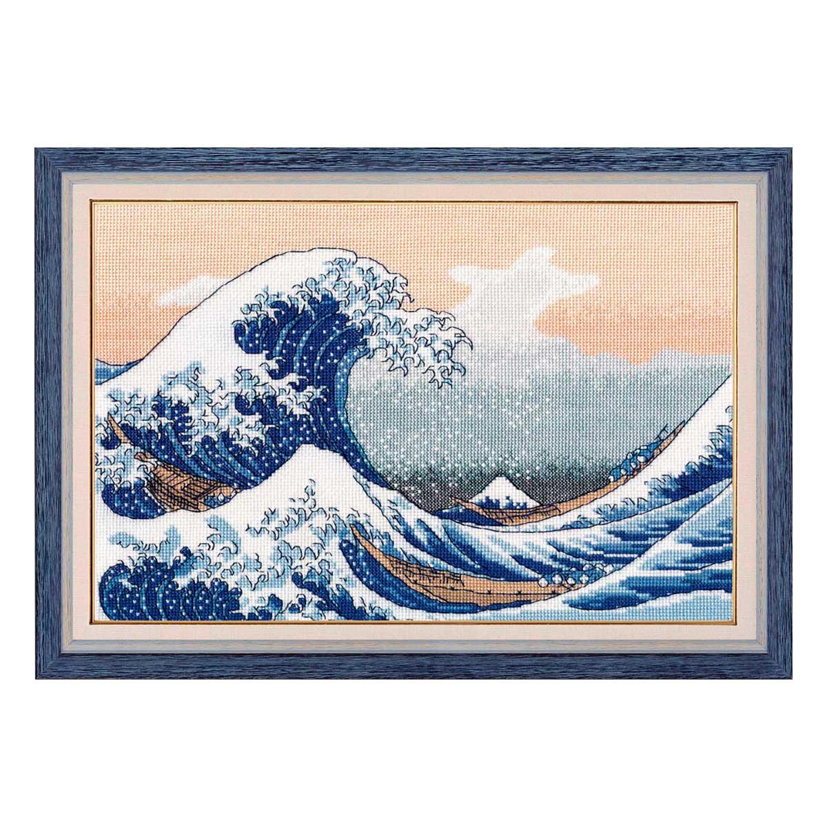1255 Набор для вышивания ОВЕН 'Большая волна в Канагаве' 30×20см