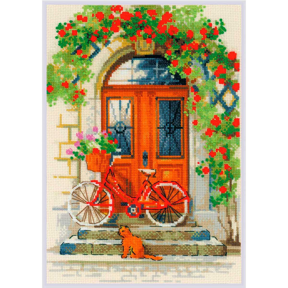 1831 Набор для вышивания Риолис 'Дверь в Италию' 21*30см