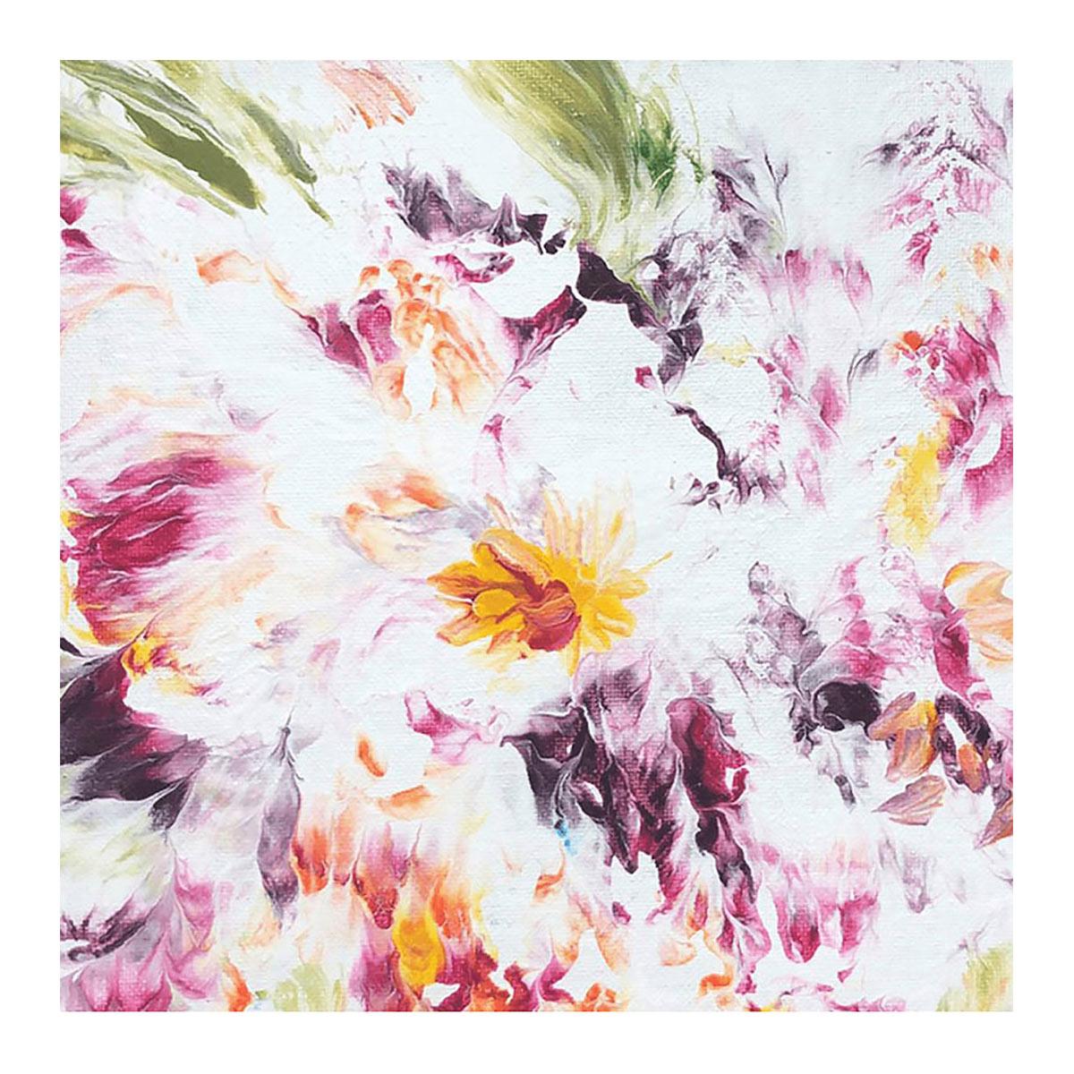 FA001 Набор для творчества Картина в стиле fluid art 'Цветы' 30*30см