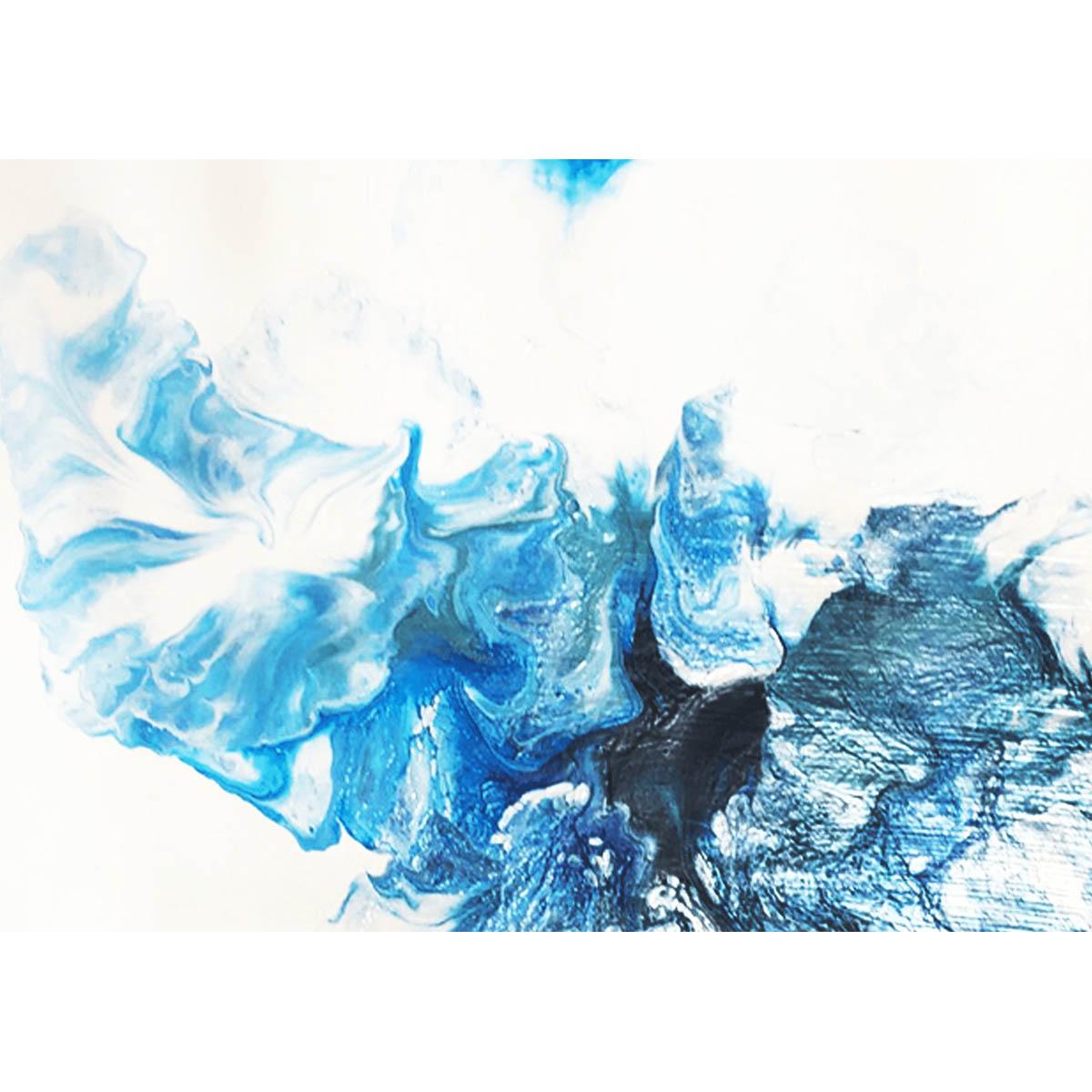 FA002 Набор для творчества Картина в стиле fluid art 'Dutch Wave' 30*30см