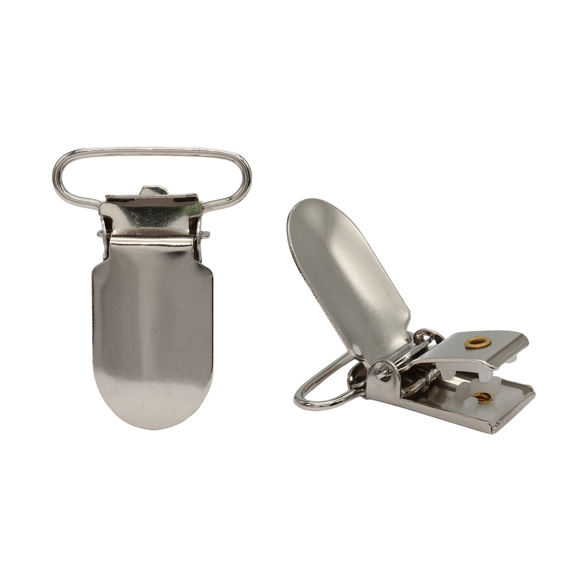 Клипса для подтяжек гладкая 25 мм, сталь