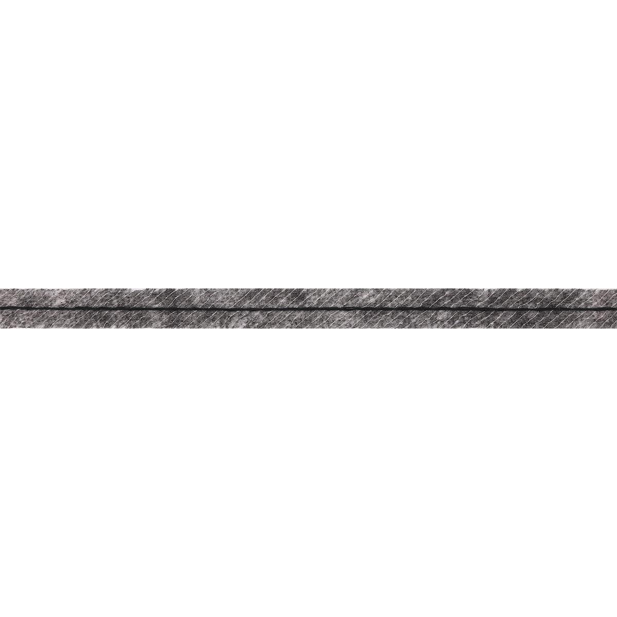 5712G Лента Idealtex нитепрошивная клеевая по косой с нитью 12мм*100м цв.серый