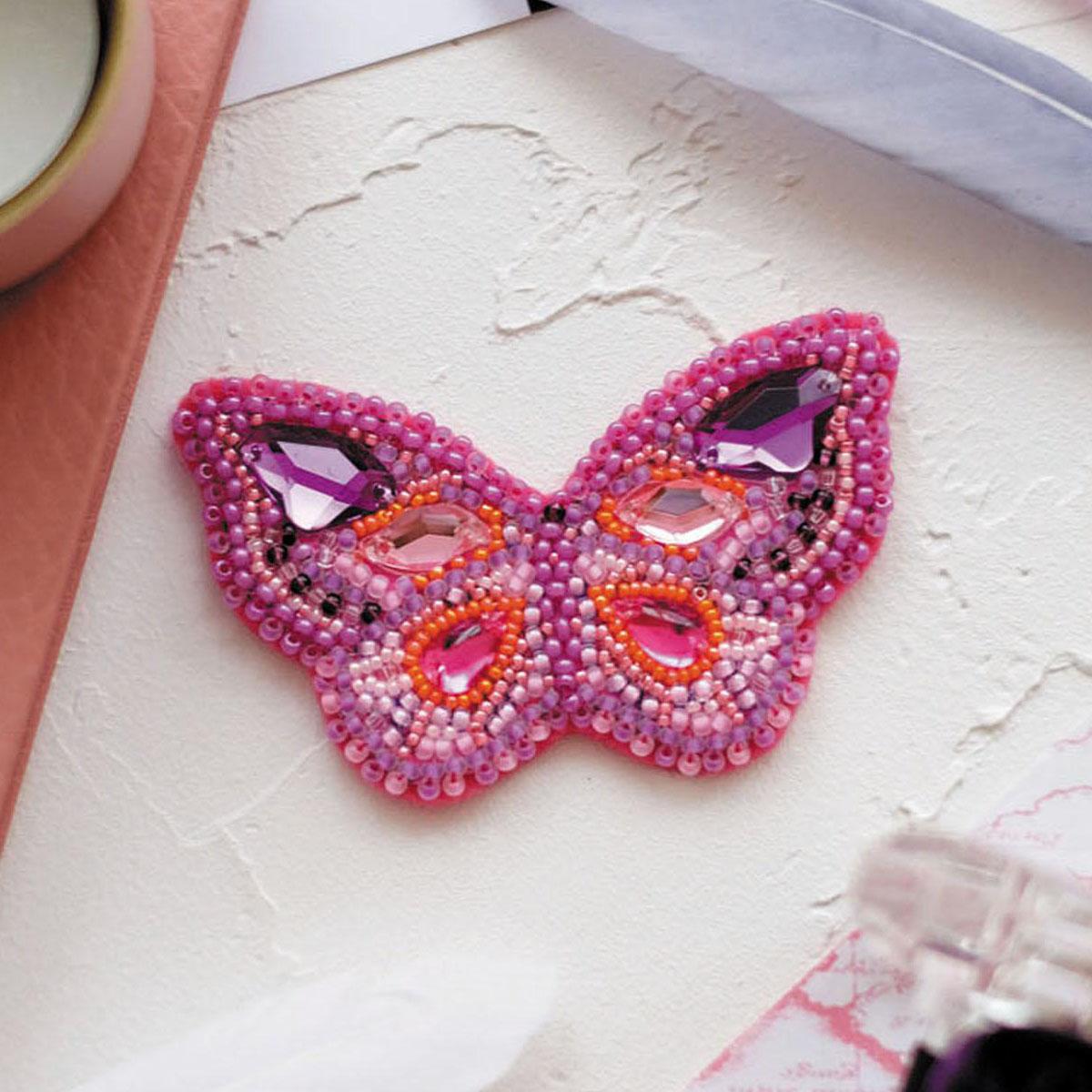 АД-034 Набор для вышивки бисером украшения на натур. художественном холсте 'Пурпур'7,0*4,0см