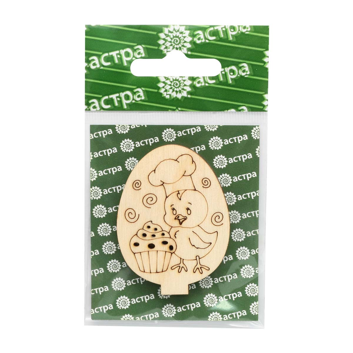 L-1378/7 Деревянная заготовка яйцо на подставке 'Цыпа 7' 5,2*4*2,5см Астра фото