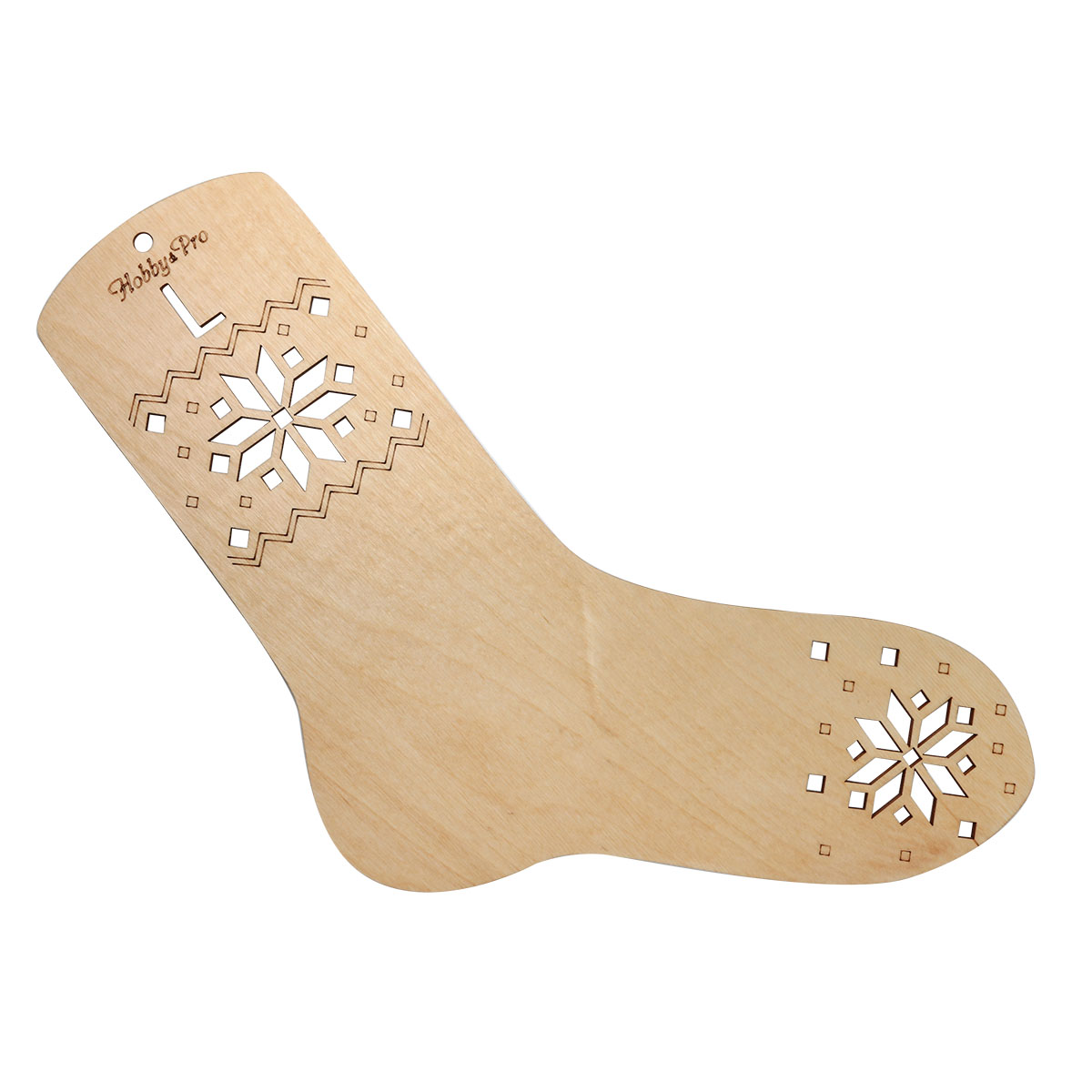 НВ-001 Блокатор-шаблон для вязания носка L (26 см по стельке), фанера Hobby&Pro