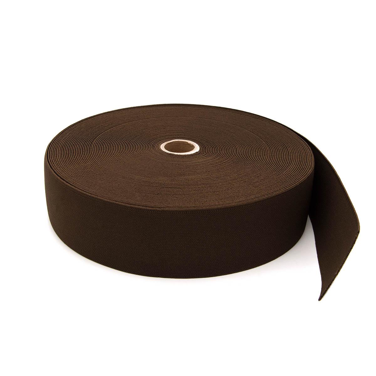 15-3849/9707 Резинка вязаная 50мм*25м т.коричневый ГР