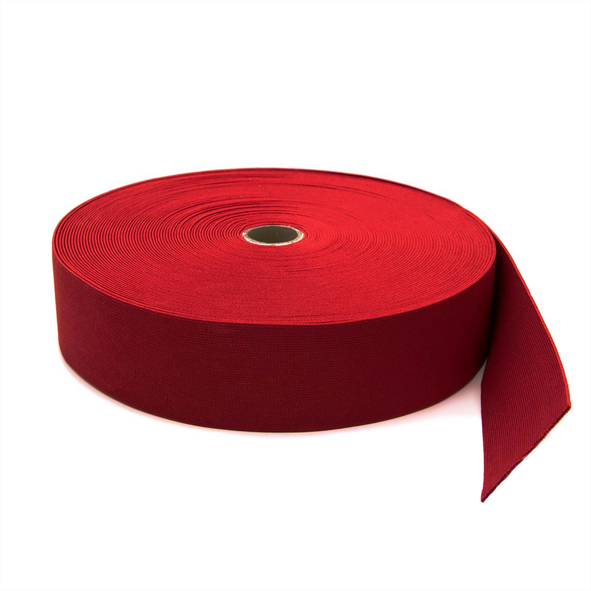15-3849/9743 Резинка вязаная 50мм*25м красный ГР