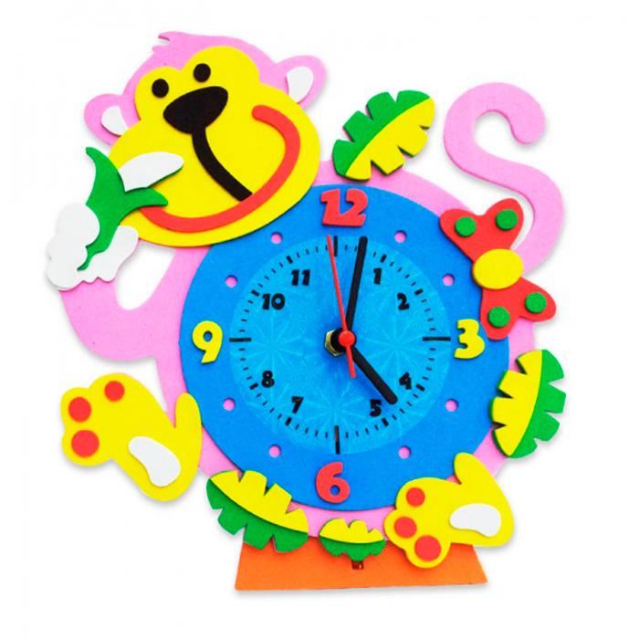 CL002 Обезьянка часы - набор для творчества из фоамирана Color KIT 21,5*20см