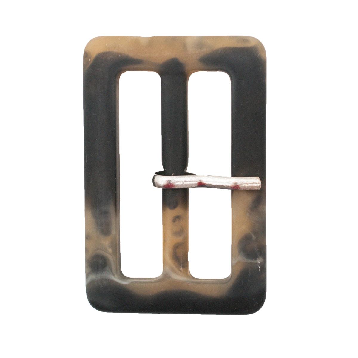 ВК713 Пряжка с язычком 40мм ушко, 35*54мм, черно-коричневая матовая