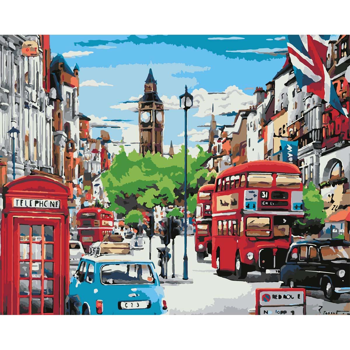 HS0093 Набор для рисования по номерам 'Красочный Лондон' 40*50см