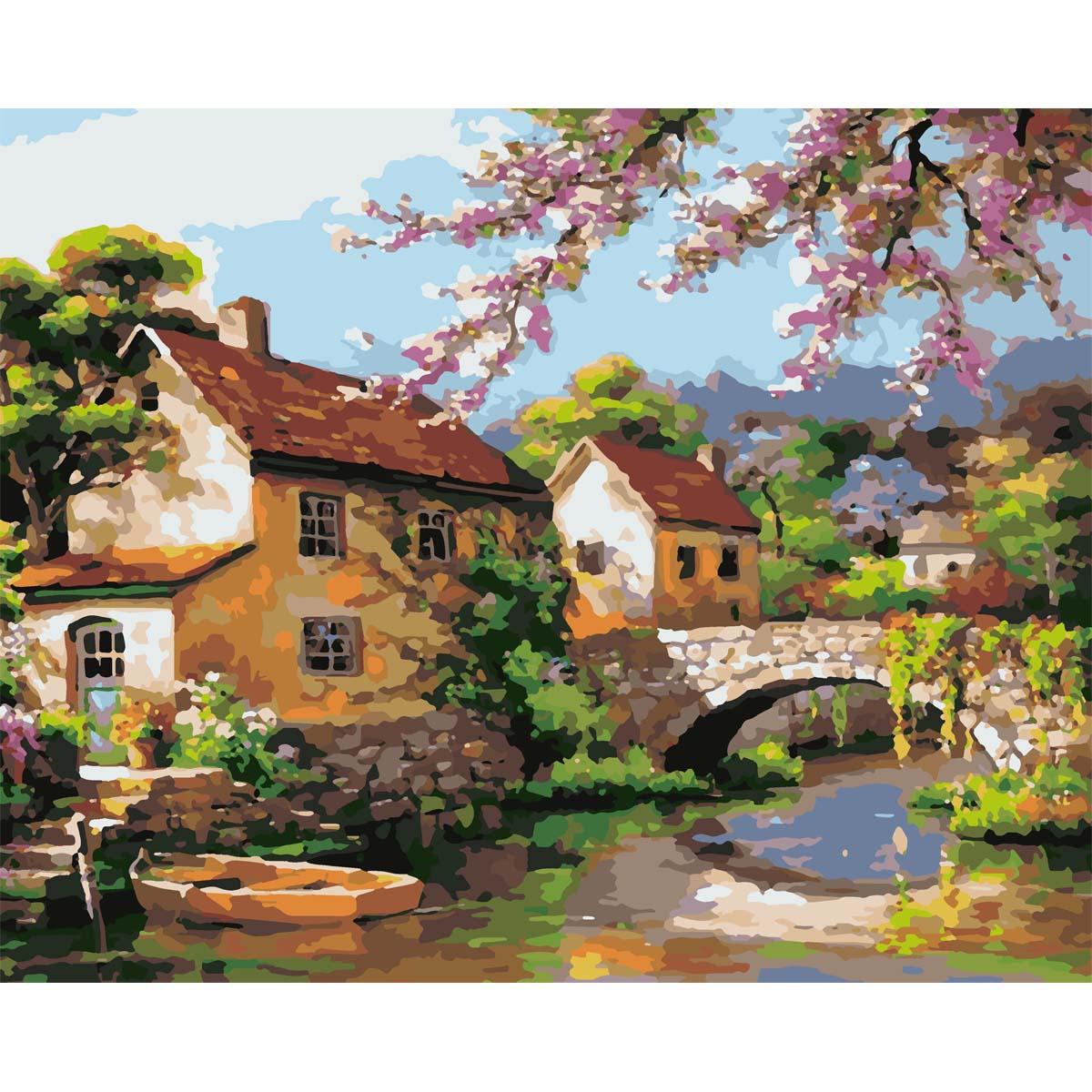 HS0096 Набор для рисования по номерам 'Цветение сакуры' 40*50см
