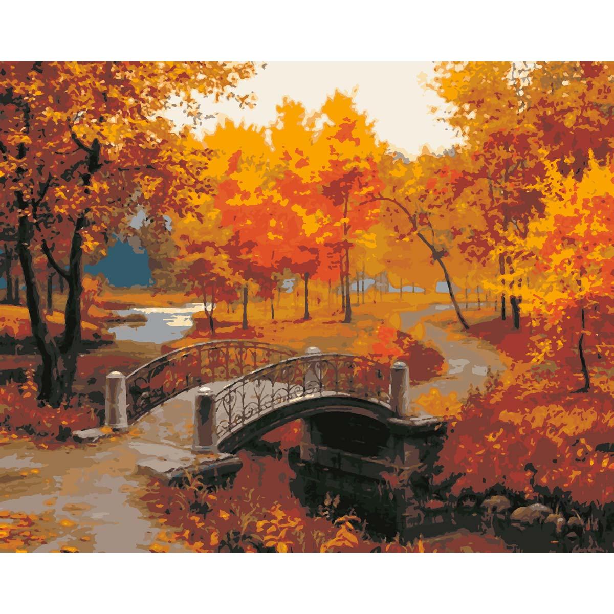 HS0119 Набор для рисования по номерам 'Парк осенью' 40*50см