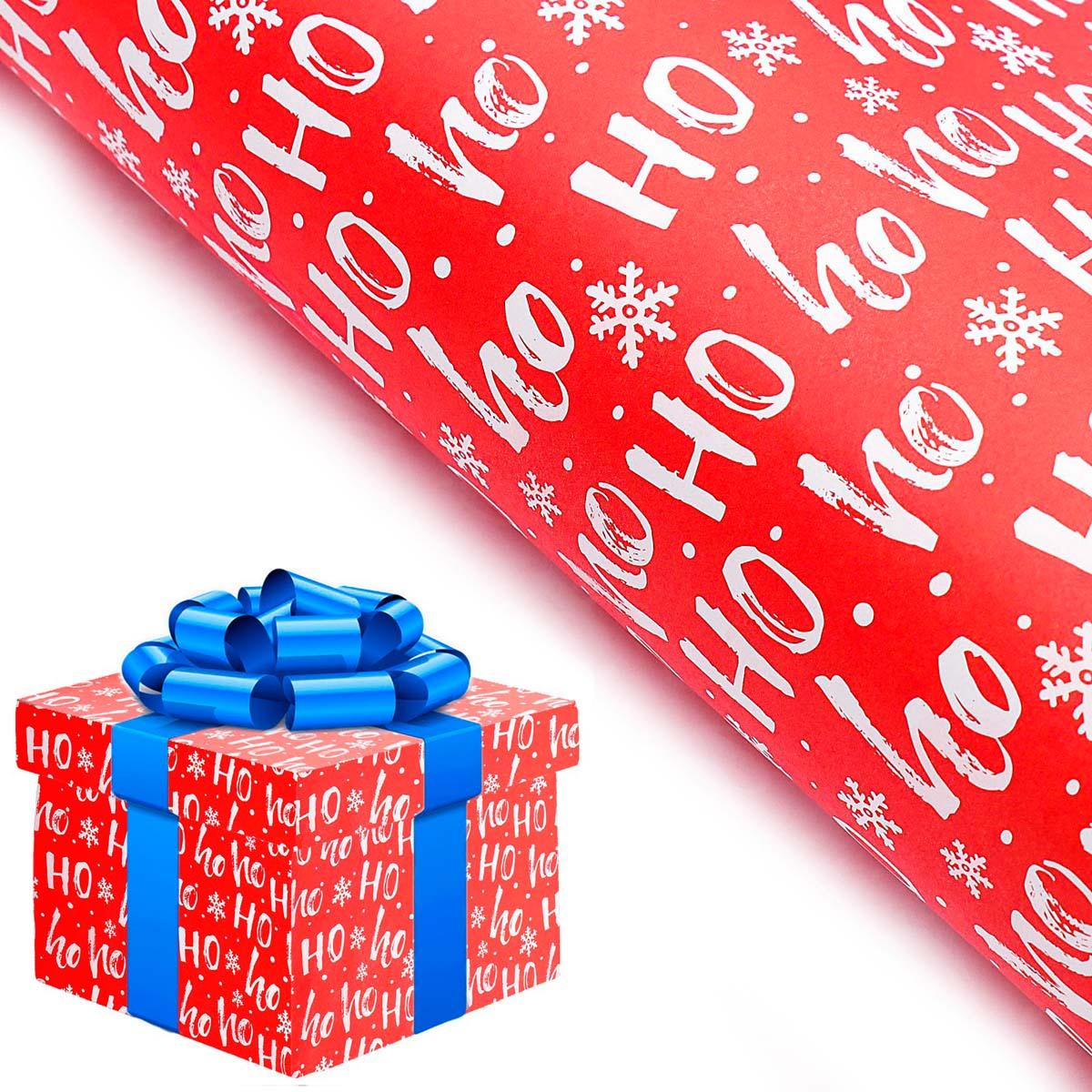 3862939 Бумага упаковочная 'Ho-Ho', 100*67 см