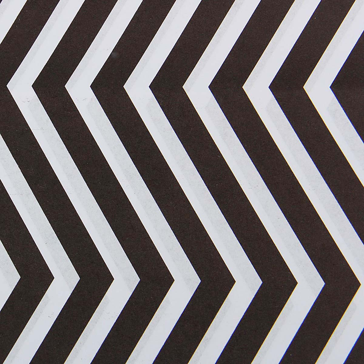 1558536 Бумага упаковочная 60*60 см 'Зигзаги белые на черном'