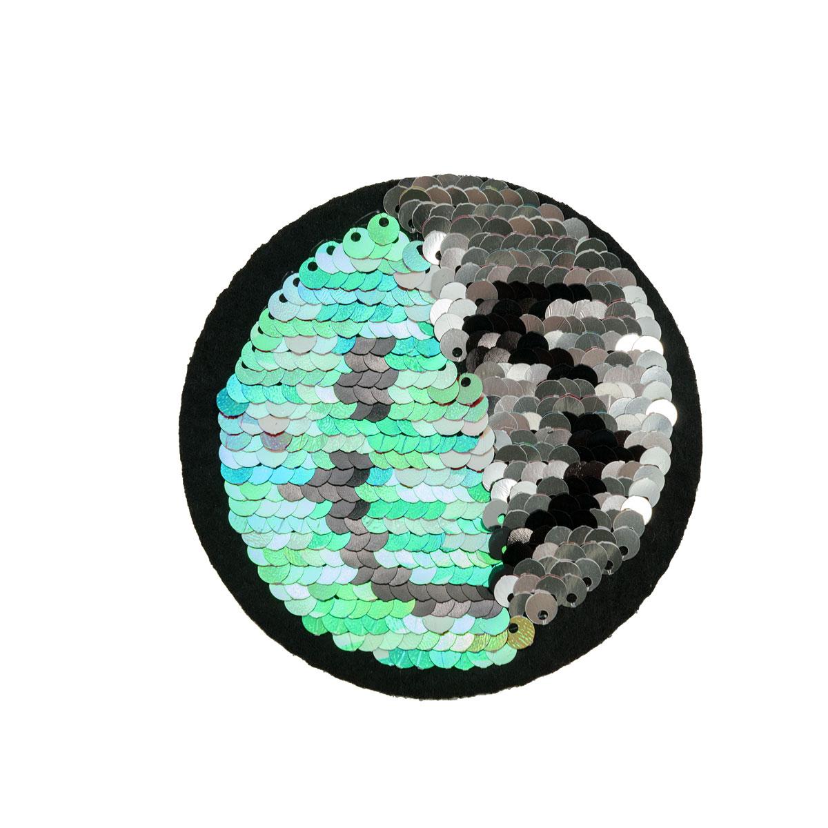 ГУБ7183 Термоаппликация Смайлик 80мм