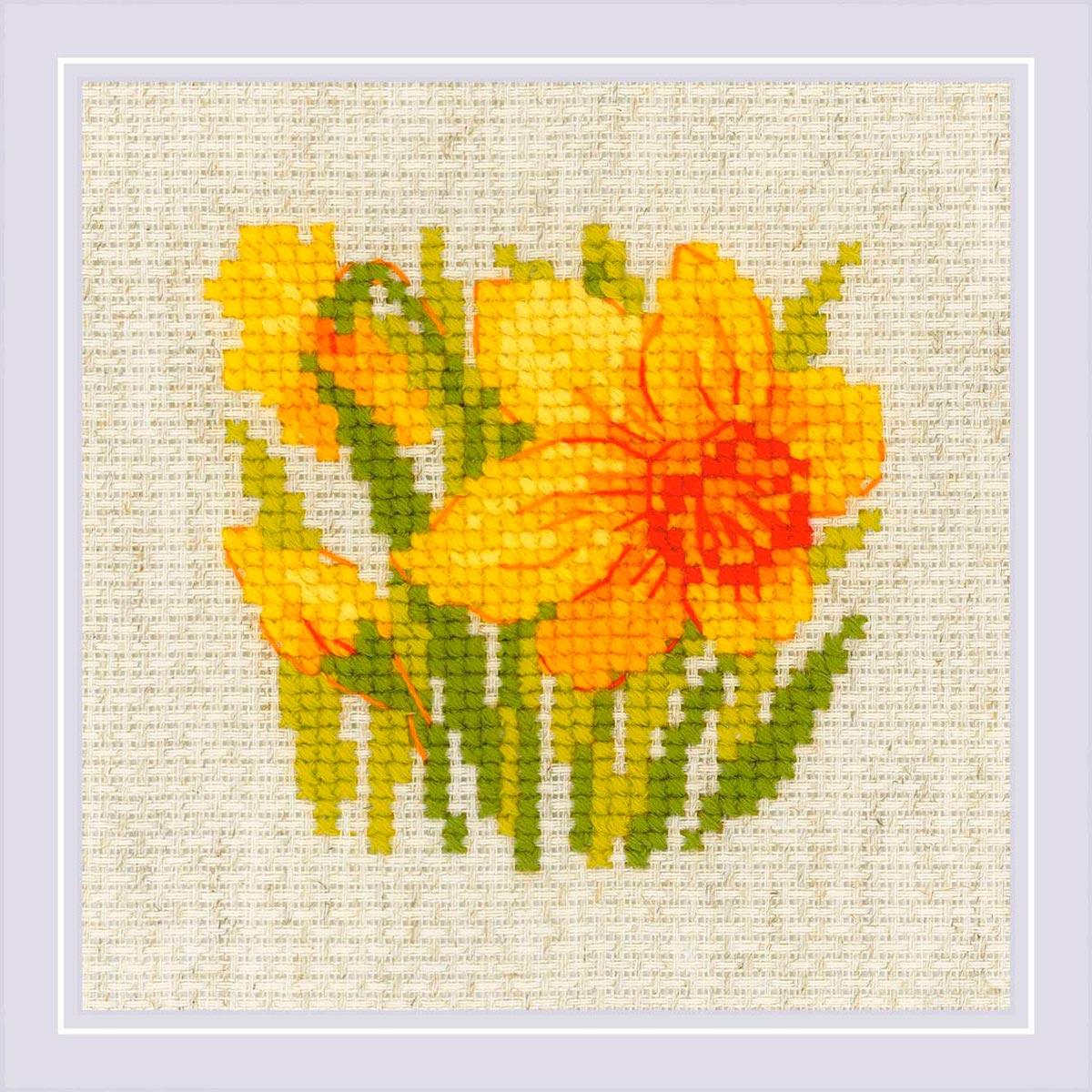 1841 Набор для вышивания Риолис 'Нарцисс'13*13см фото
