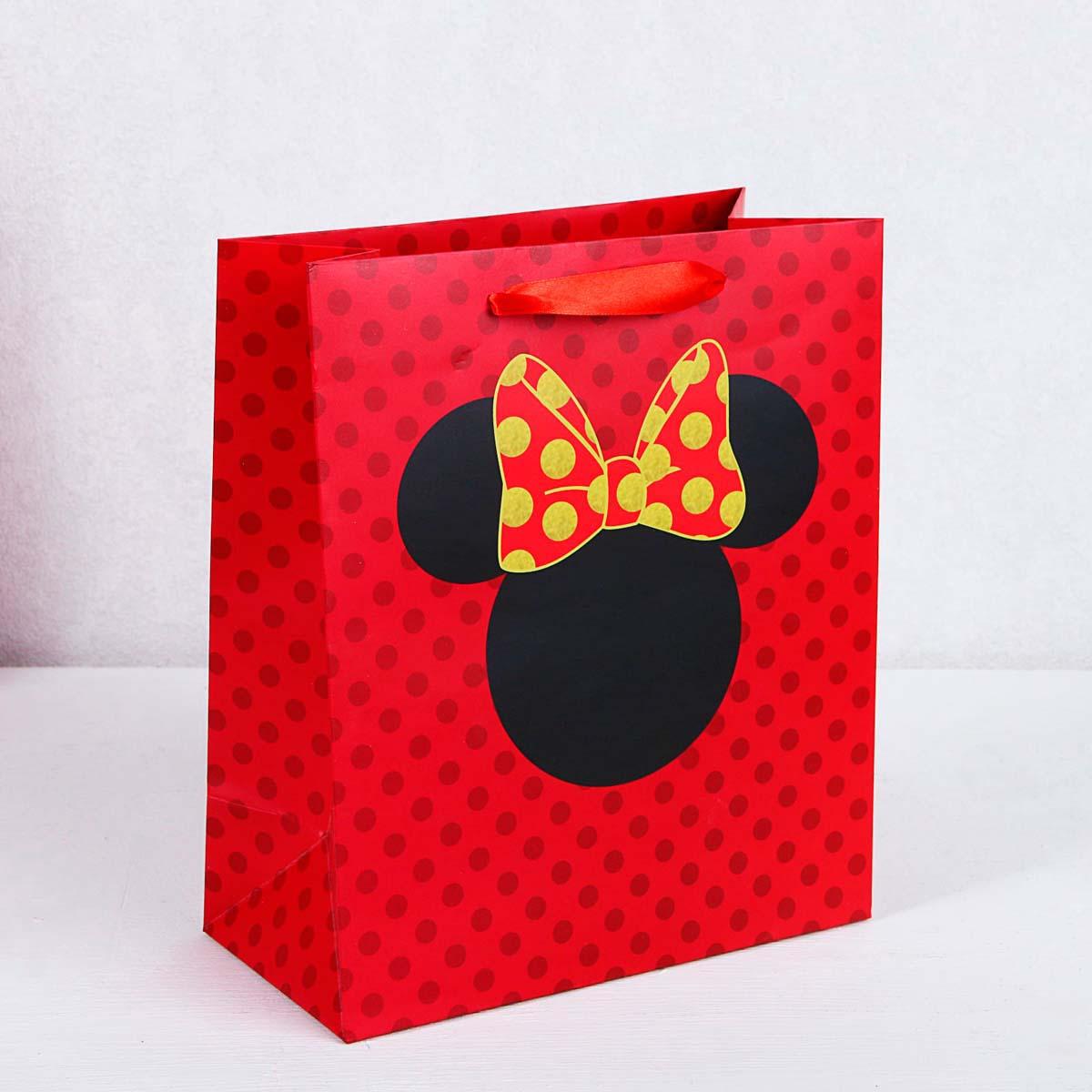 3908784 Пакет подарочный «Минни», Минни Маус, 23*27*11,5 см