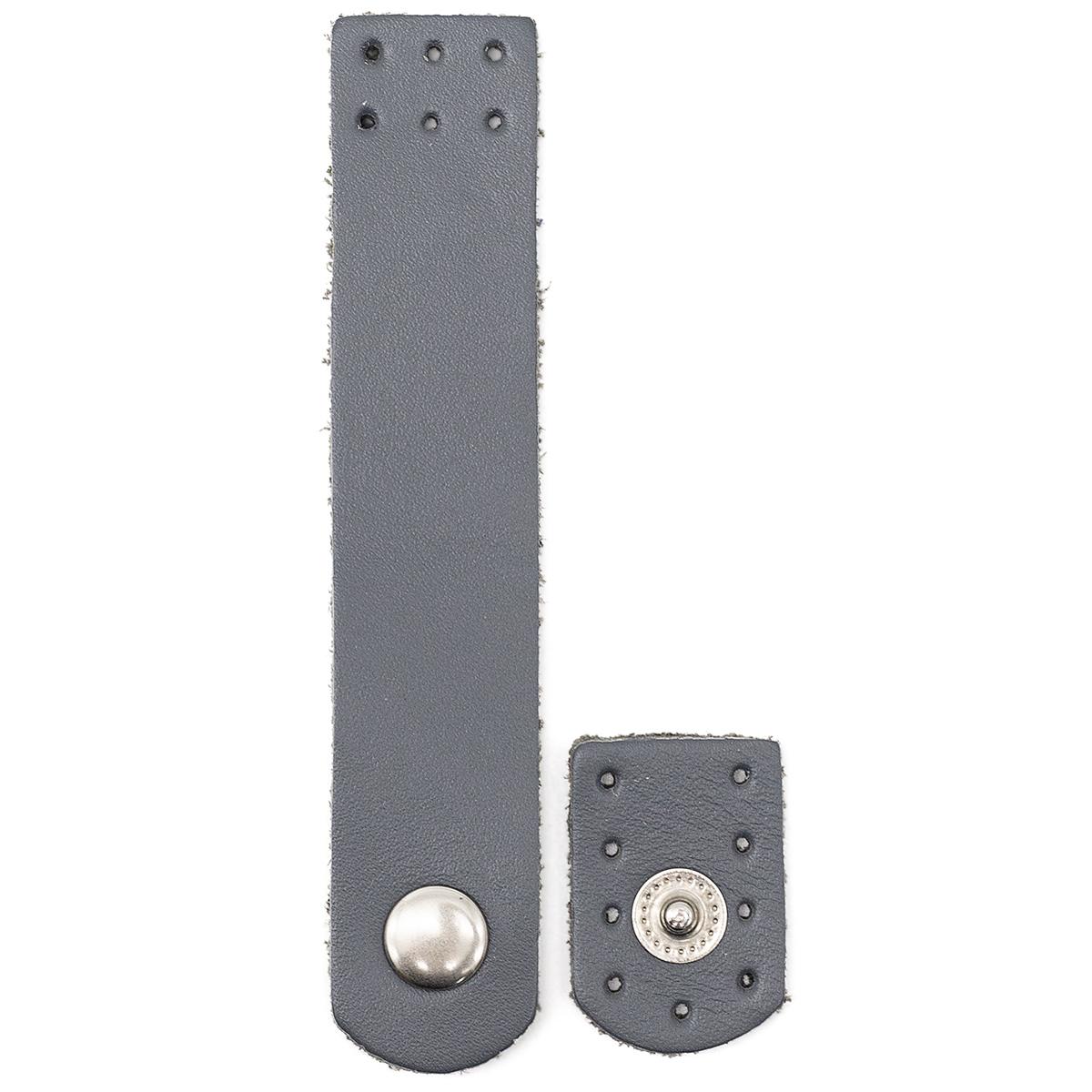 Застежка для сумки кожаная 2*10,1см, дизайн №1106, 100% кожа