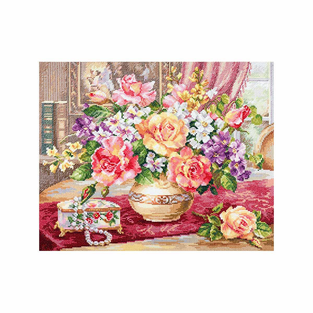 2-50 Набор для вышивания АЛИСА 'Розы в гостиной' 39*33см