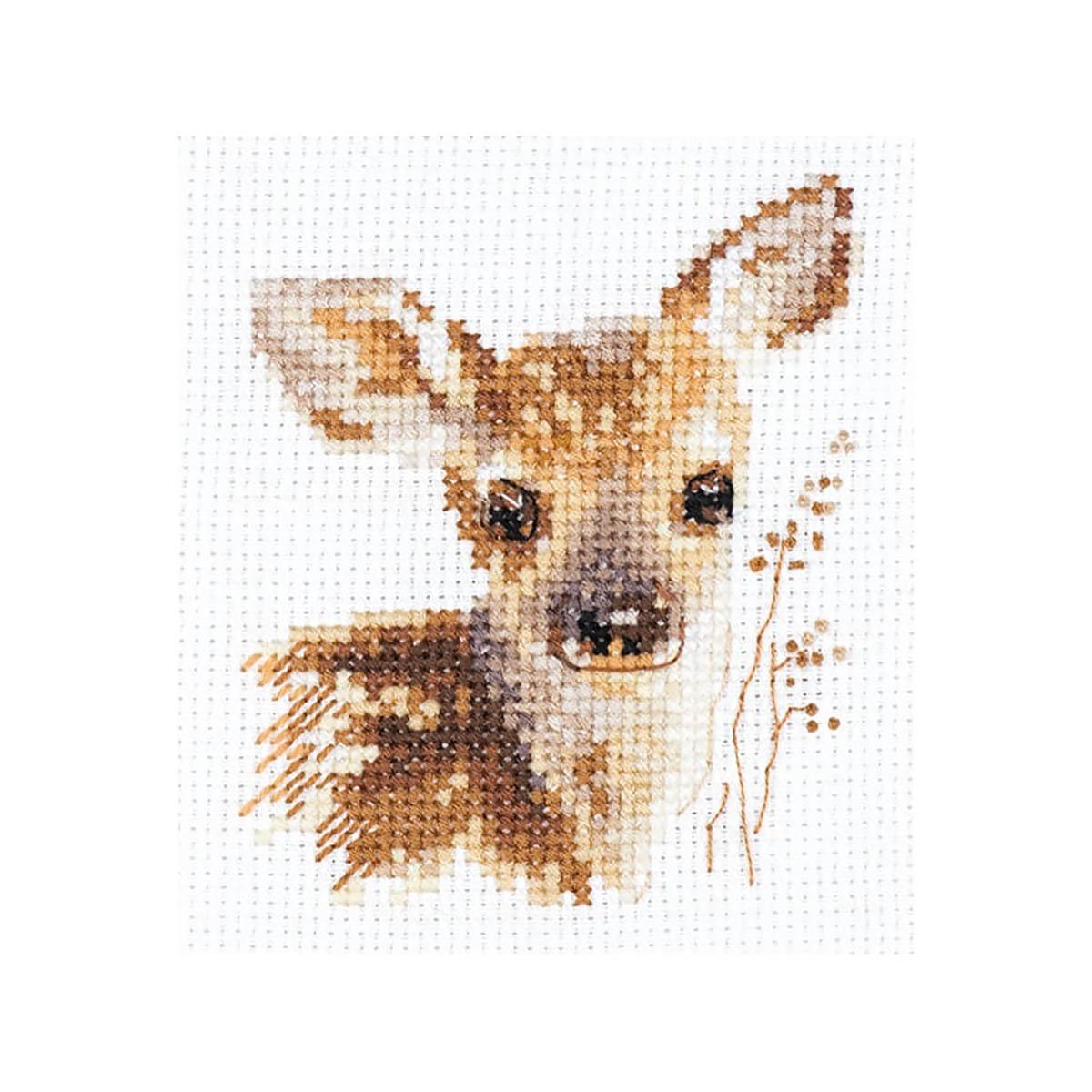 0-195 Набор для вышивания АЛИСА 'Животные в портретах. Олененок '7х9см