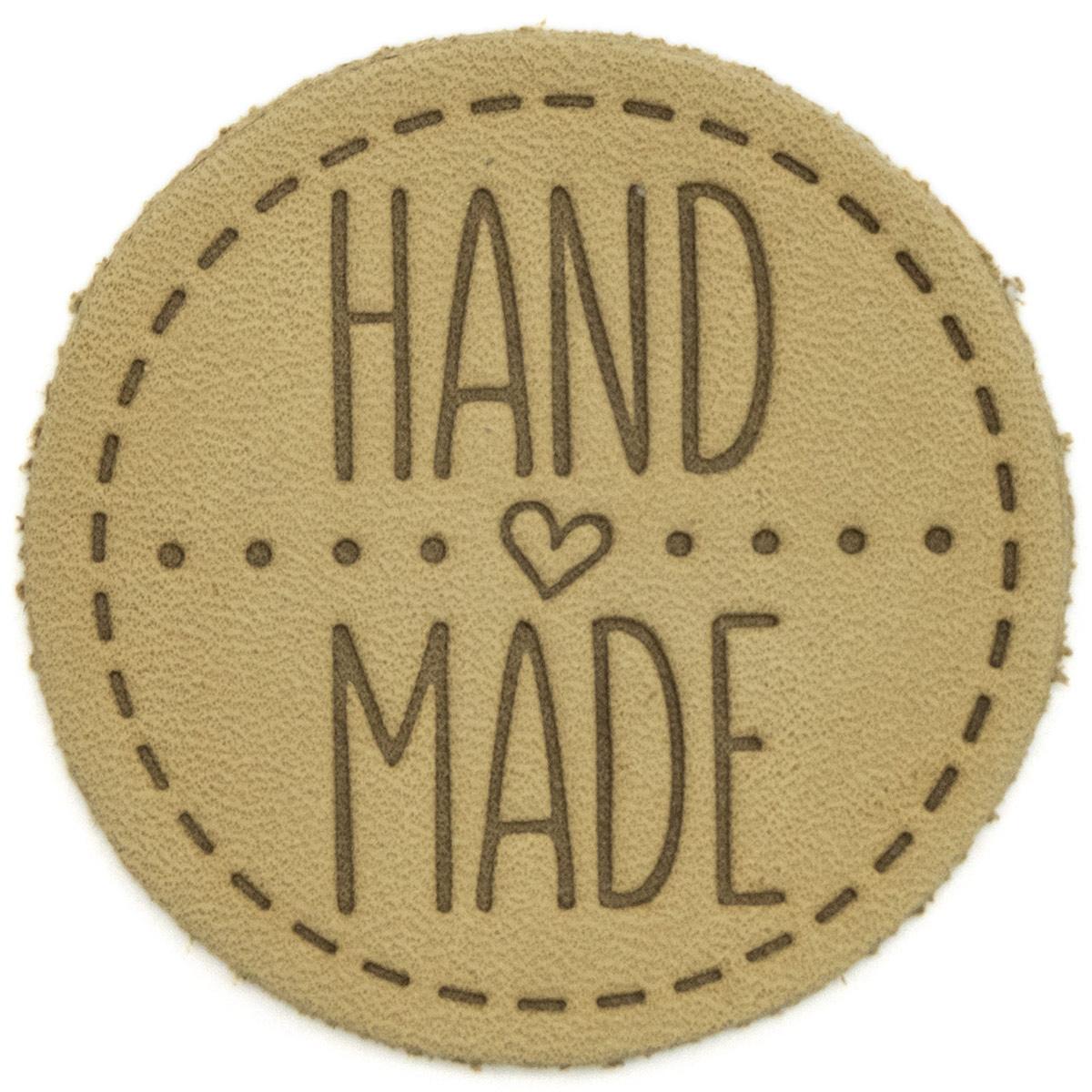 39 Термоаппликация из кожи Hand Made D4,5см, 100% кожа