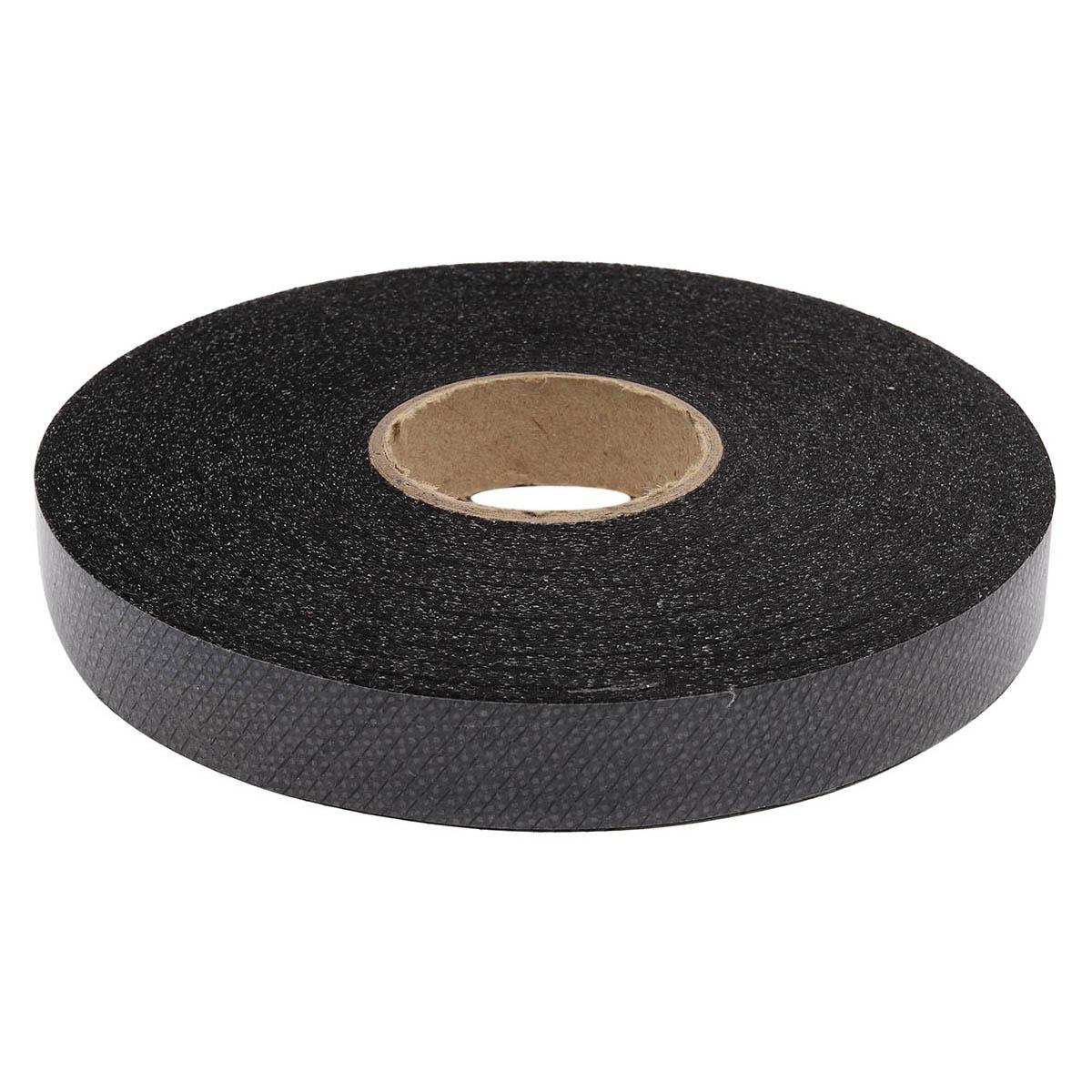 Бейка косая нитепрошивная 15 мм флизелин/черный