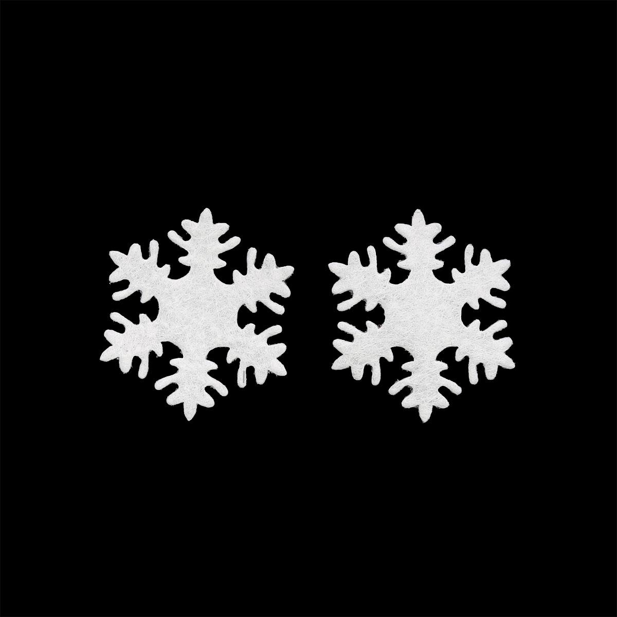 26843 Набор декоративных элементов из фетра 'Снежинки' , диам. 30мм*0,5мм, 12шт