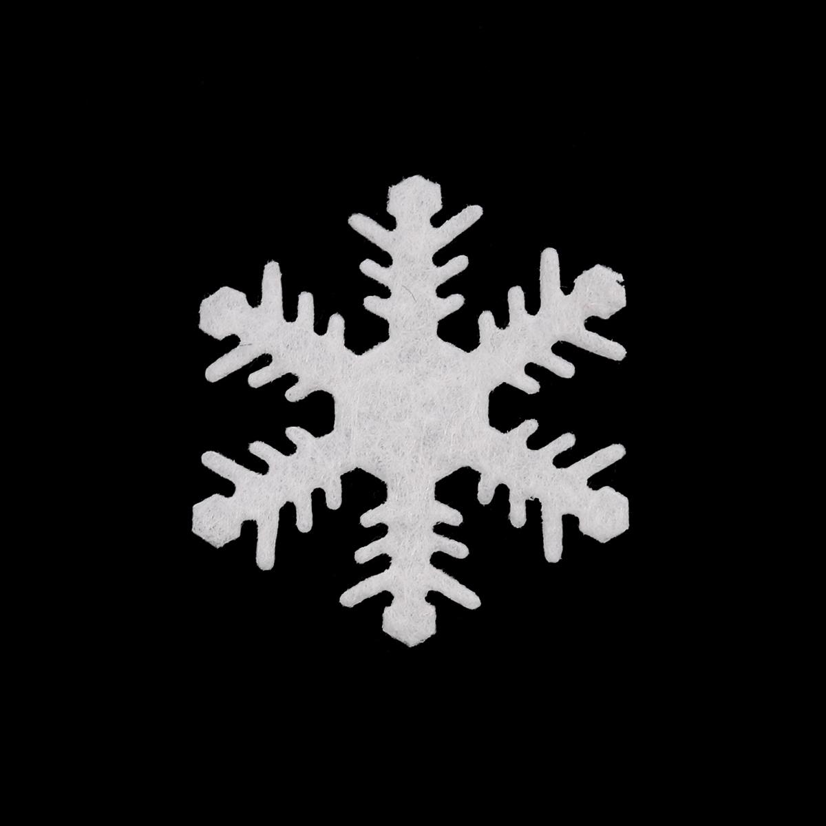 26841 Набор декоративных элементов из фетра 'Снежинки' , диам. 40мм*0,5мм, 8шт