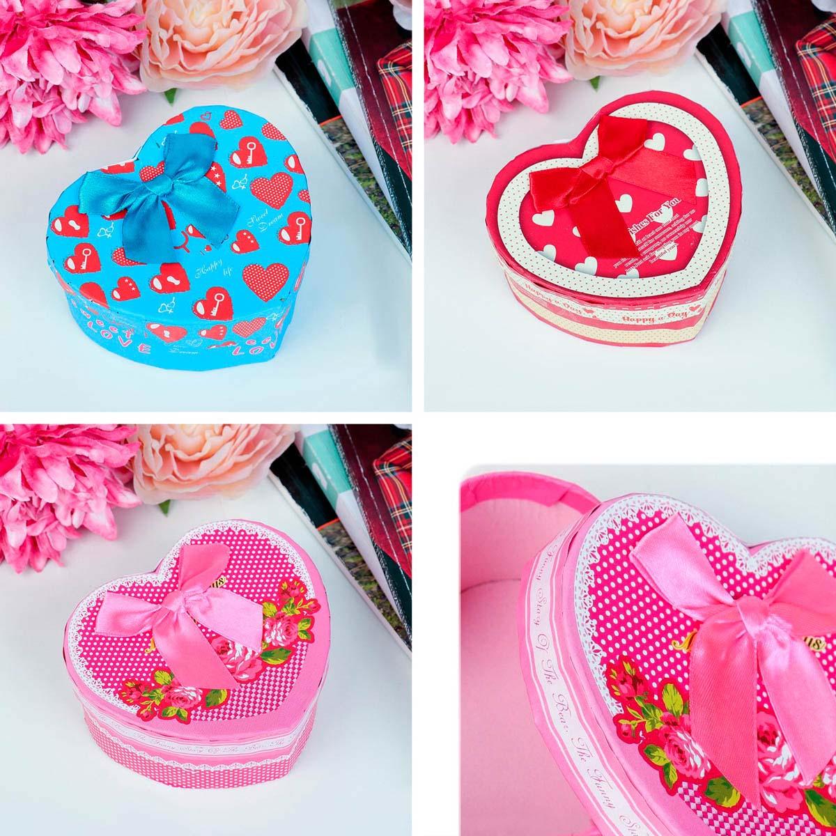 3831165 Коробка подарочная сердце 10 х 11 х 5,5 см МИКС