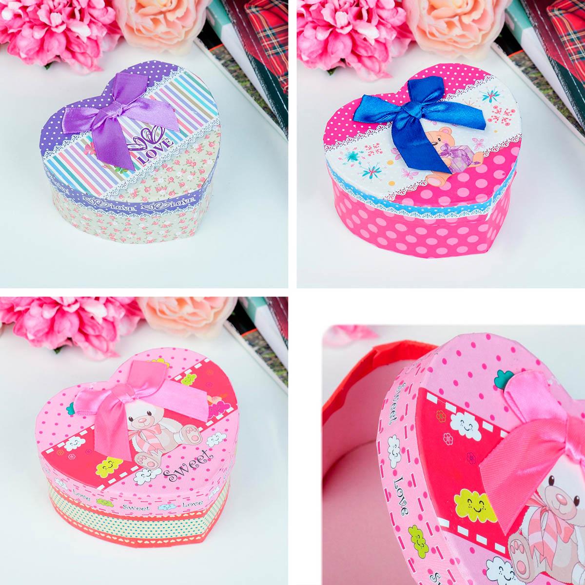 3831166 Коробка подарочная сердце 10 х 11 х 5,5 см МИКС