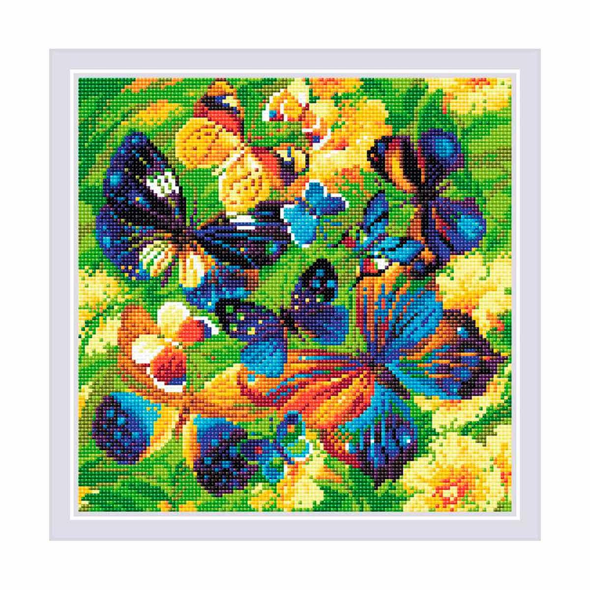 AM0038 Набор алмазной мозаики Риолис «Яркие бабочки» 30*30см