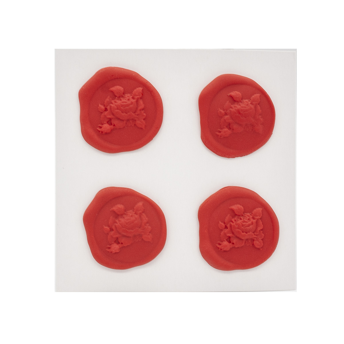Оттиски печатей из полимерной глины 'Роза' 30*35мм, 4шт/упак Астра