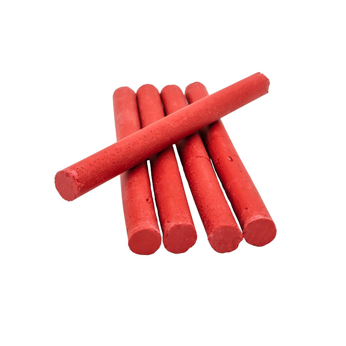 Сургуч в стержнях красный для клеевого пистолета, 5шт/упак Астра