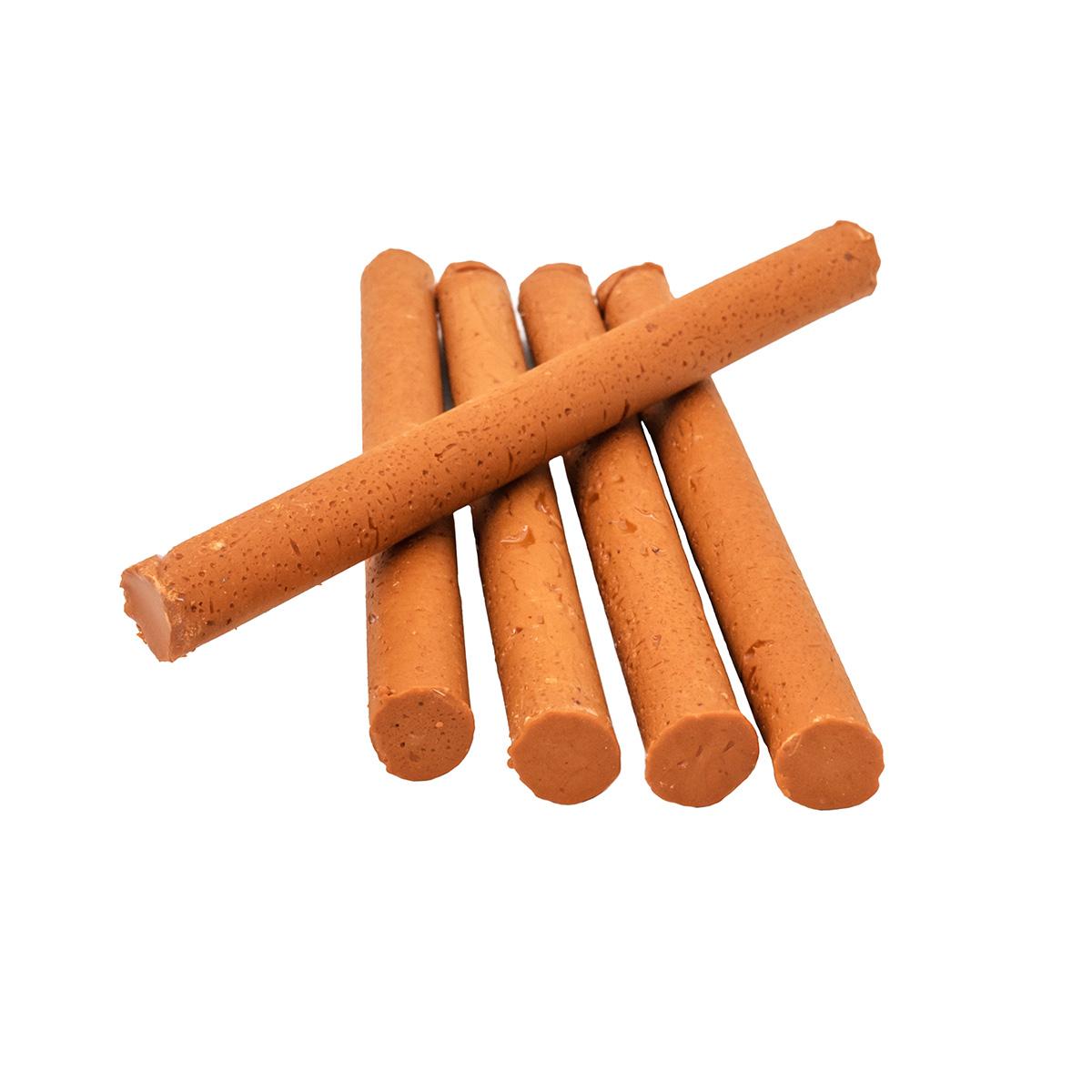 Сургуч в стержнях оранжевый для клеевого пистолета, 5шт/упак Астра