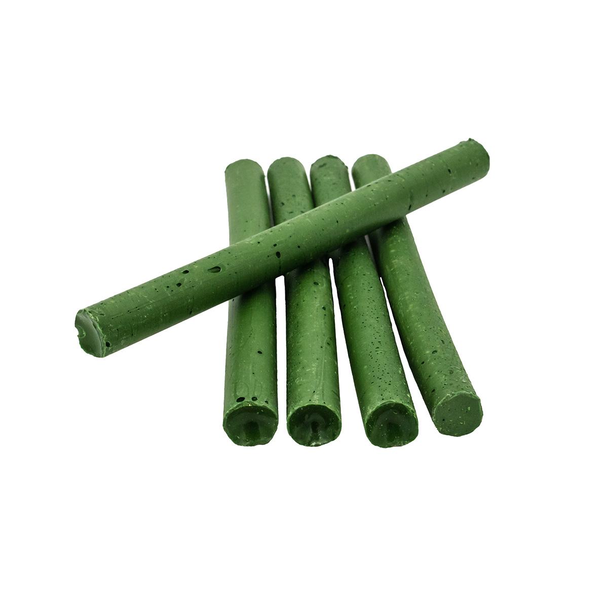 Сургуч в стержнях зеленый для клеевого пистолета, 5шт/упак Астра