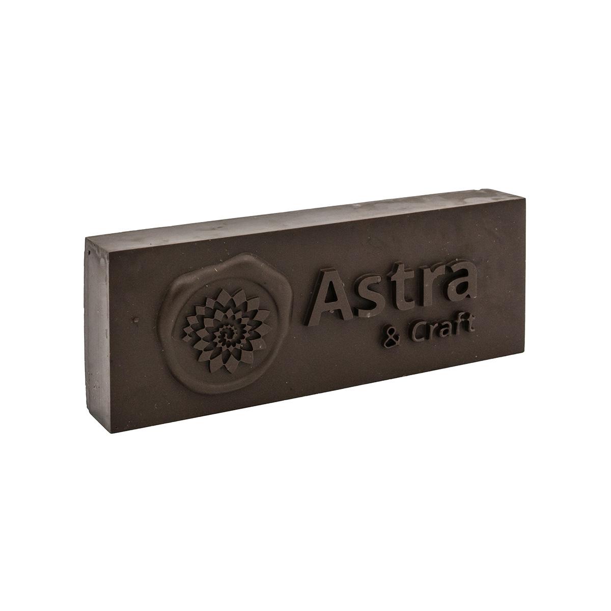 Сургуч в плитке коричневый 200г Астра