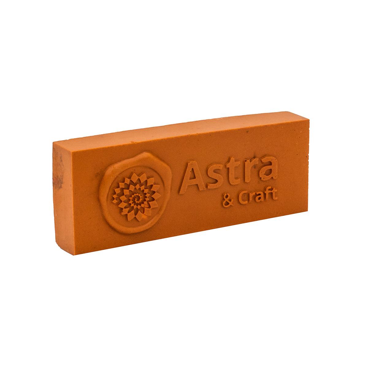 Сургуч в плитке оранжевый 200г Астра