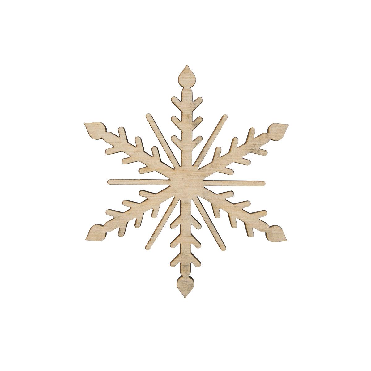 L-1433 Деревянная заготовка ' Снежинка острая ' 5,7*5,7*0,3см Астра