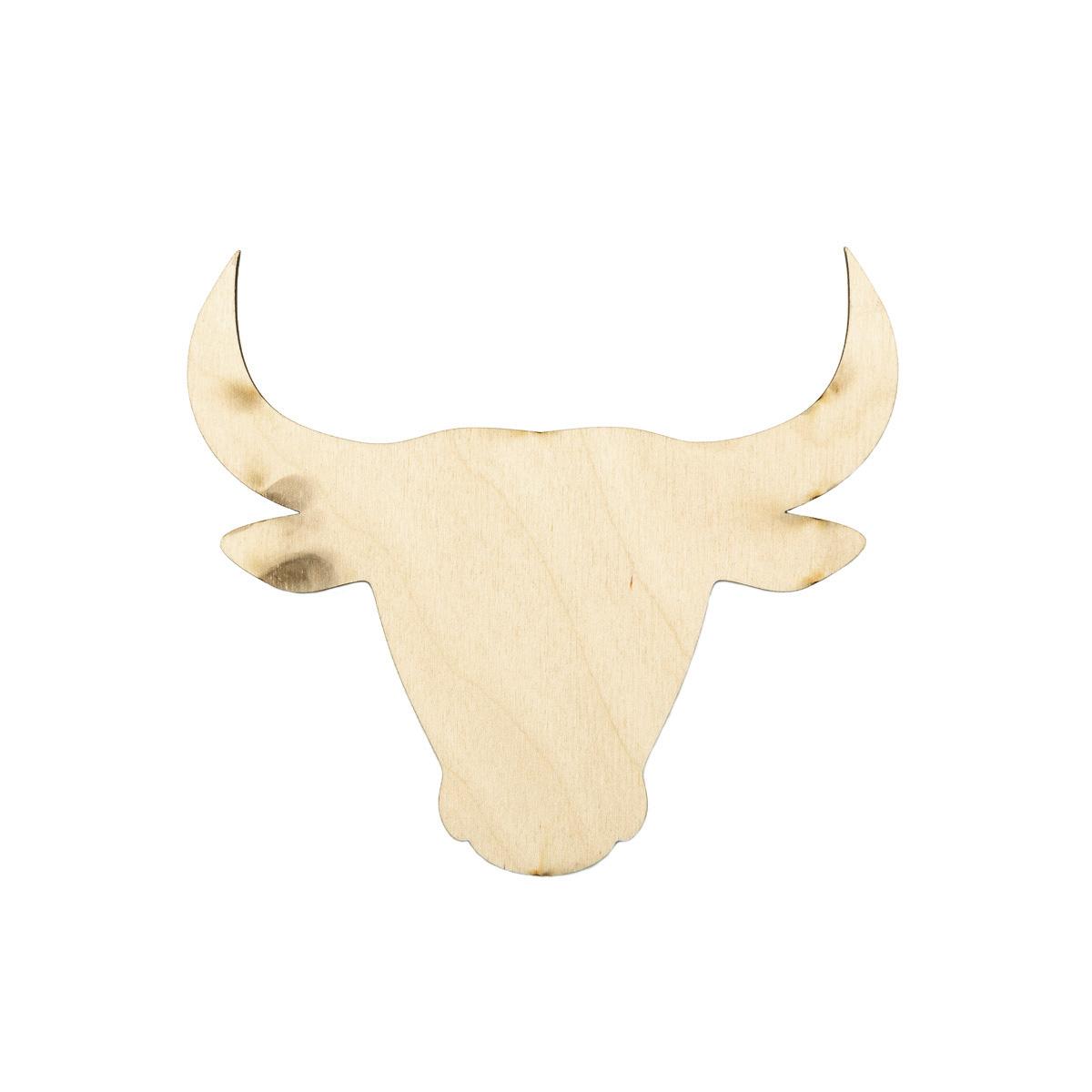 L-1444 Деревянная заготовка ' Голова быка' 12,5*15*0,3см Astra&Craft