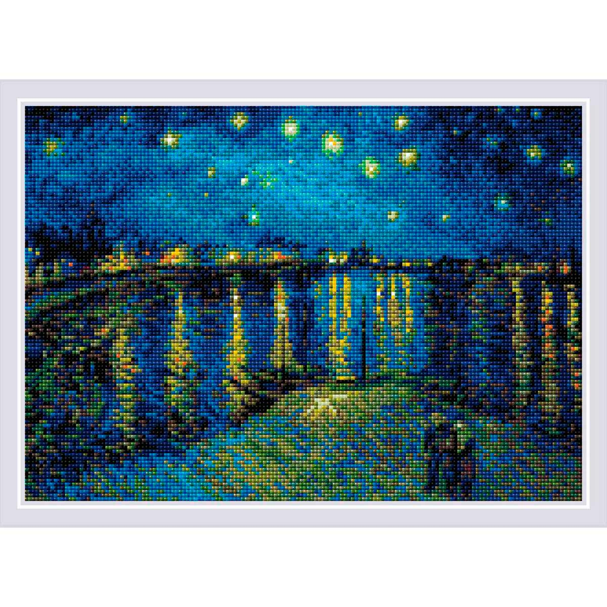 AM0044 Набор алмазной мозаики Риолис «Звездная ночь» по мотивам картины В. Ван Гога'» 27*38см фото