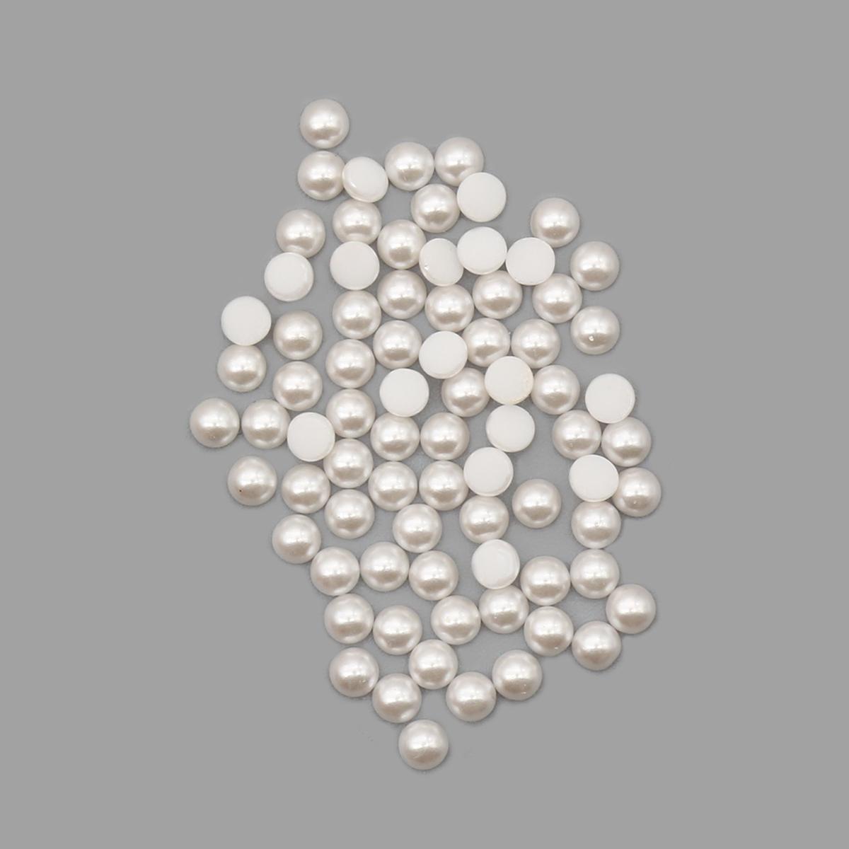 131-11-030 Кабошоны (жемчуг) White 3мм. 80 шт. Preciosa