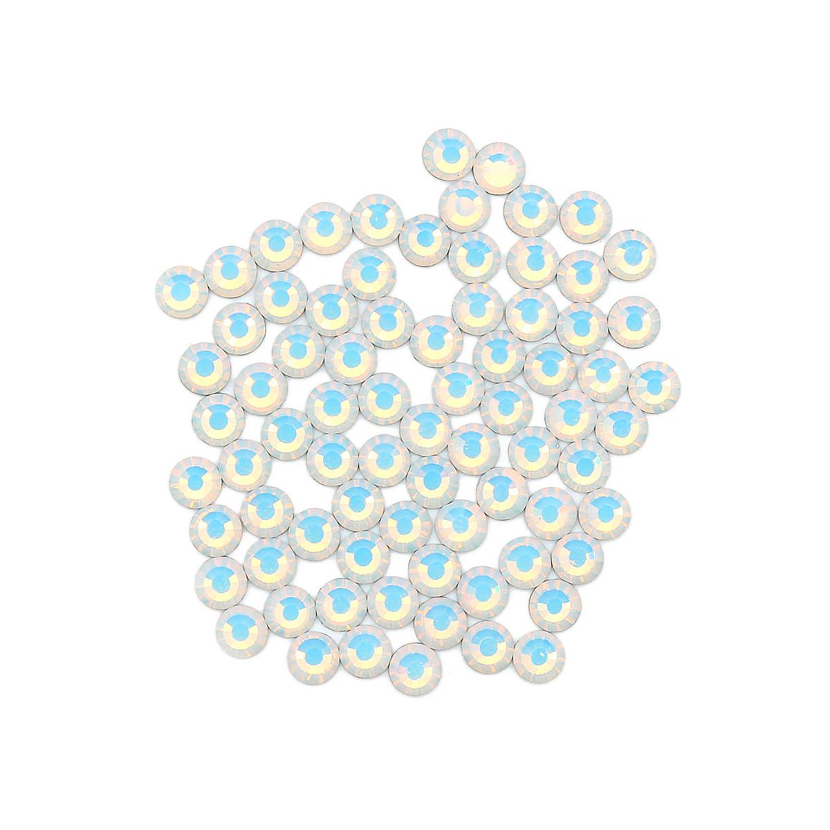 438-11-612 Стразы термоклеевые Wh.opal SS16 80шт Preciosa