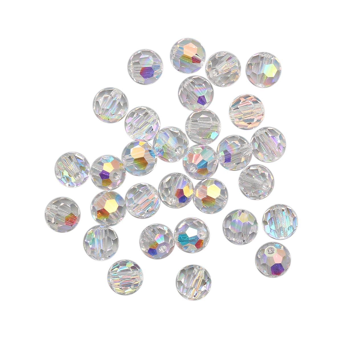 451-19-602 Бусины Круглые Crystal AB 6мм. 30 шт. Preciosa