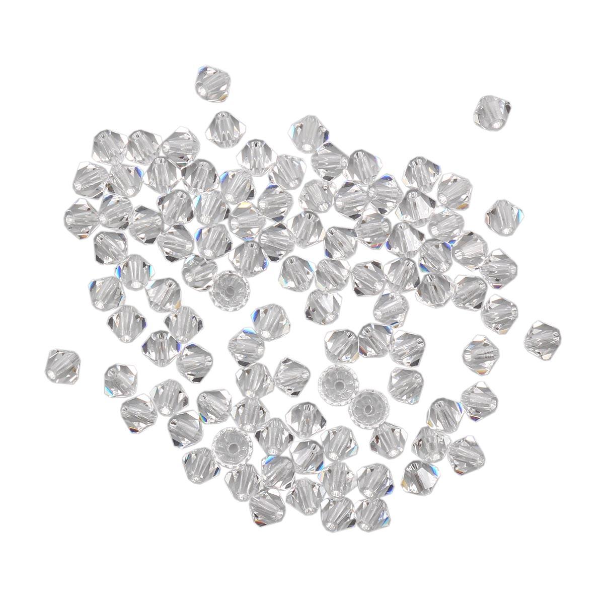 451-69-302 Бусины Биконус Crystal 3,6x4мм. 100 шт. Preciosa