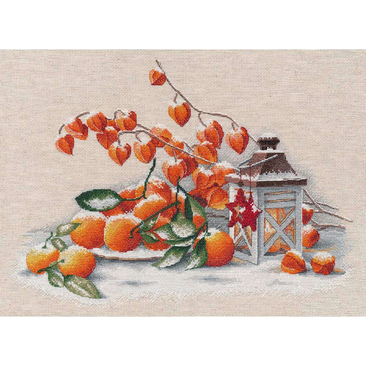 1417 Набор для вышивания ОВЕН 'Накануне Рождества' 37*28см