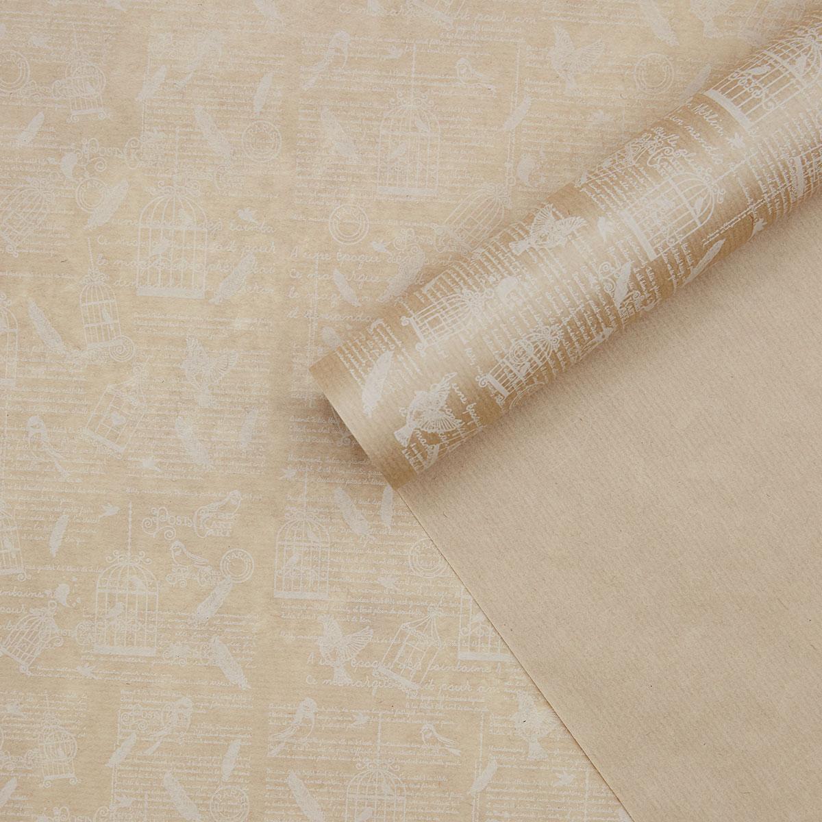 62266 Бумага крафт 40г/м2, 70см*10м Вдохновение, белый